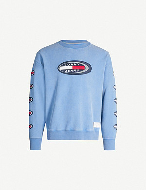 TOMMY JEANS Summer Heritage logo-embroidered cotton sweatshirt