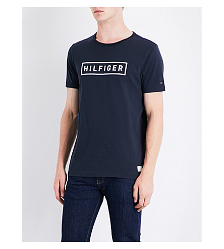 a7db4f34 TOMMY HILFIGER - Axel logo-print cotton T-shirt | Selfridges.com