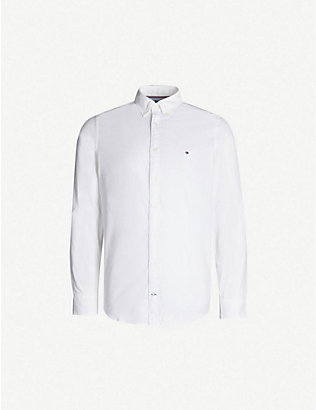 TOMMY HILFIGER: Regular-fit stretch-cotton Oxford shirt