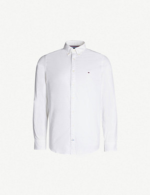 TOMMY HILFIGER Regular-fit stretch-cotton Oxford shirt