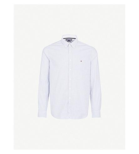 e761e444 TOMMY HILFIGER - Striped slim-fit stretch-cotton shirt | Selfridges.com