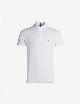 TOMMY HILFIGER: Logo-embroidered cotton-piqué polo shirt
