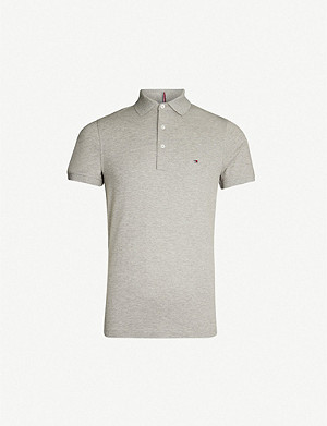TOMMY HILFIGER Logo-embroidered cotton-piqué polo shirt
