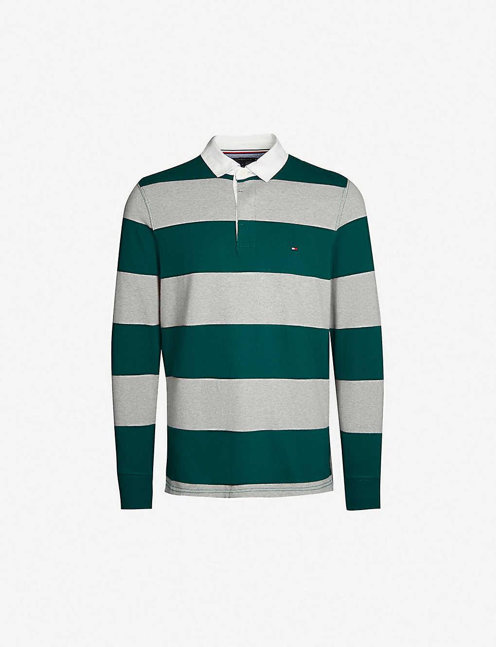 c6e5ebf82 TOMMY HILFIGER - Striped cotton-jersey rugby shirt | Selfridges.com