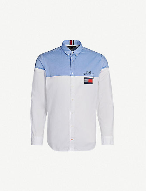 8b89bbdef113dc TOMMY HILFIGER Colour-block cotton shirt