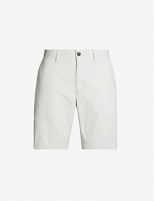 45d2b10e TOMMY HILFIGER Brooklyn slim-fit cotton-twill shorts