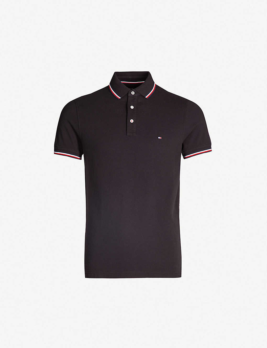 21c24037 TOMMY HILFIGER - Logo-embroidered cotton-piqué polo shirt ...