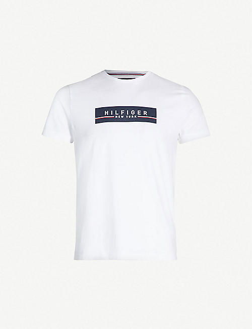 d617beb65537b TOMMY HILFIGER Branded cotton-jersey T-shirt