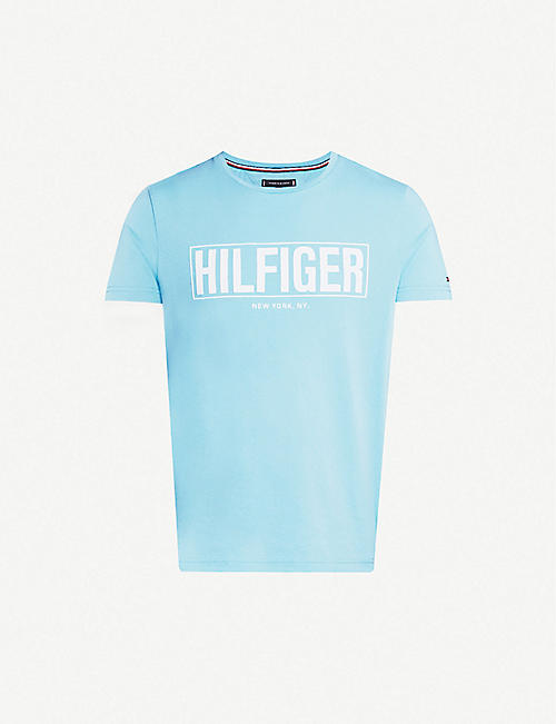19ad8469ca93 TOMMY HILFIGER Branded cotton-jersey T-shirt