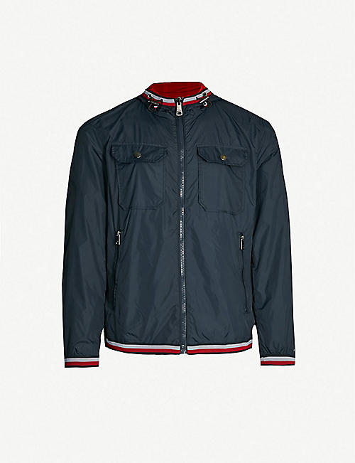 1868f8f4596e1 TOMMY HILFIGER Stripe-trimmed shell jacket