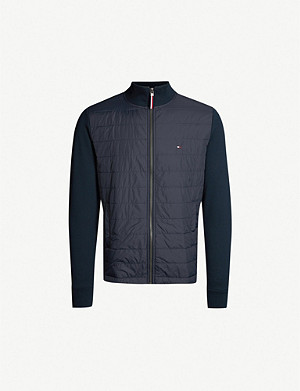 TOMMY HILFIGER Stand-collar jersey and nylon jacket