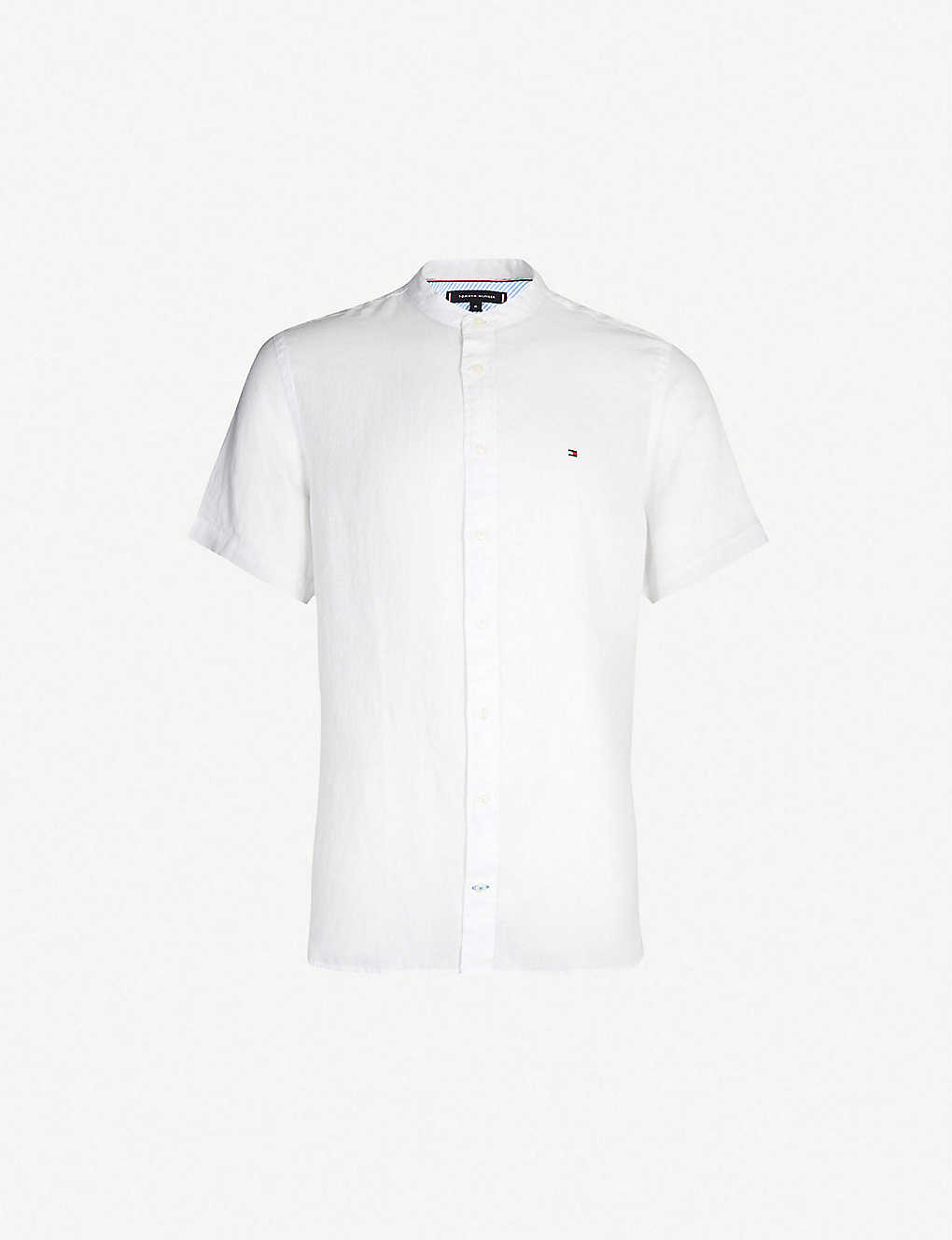 80482146c TOMMY HILFIGER - Regular-fit linen shirt   Selfridges.com
