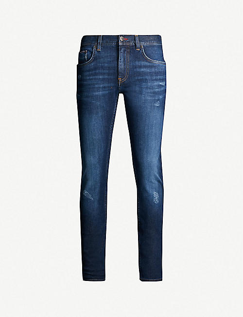 eef0e330 TOMMY HILFIGER Layton distressed extra slim-fit jeans