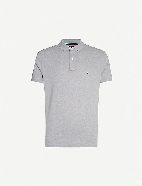 TOMMY HILFIGER Logo-embroidered regular-fit cotton-jersey polo shirt