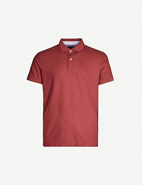 TOMMY HILFIGER Branded regular-fit cotton-jersey polo