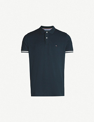 TOMMY HILFIGER Logo-ebroidered cotton-piqué polo shirt