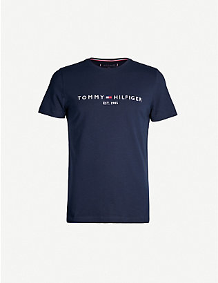 TOMMY HILFIGER: Logo-embroidered cotton T-shirt