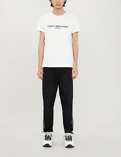 1b106eca188b5b TOMMY HILFIGER Logo-embroidered cotton T-shirt