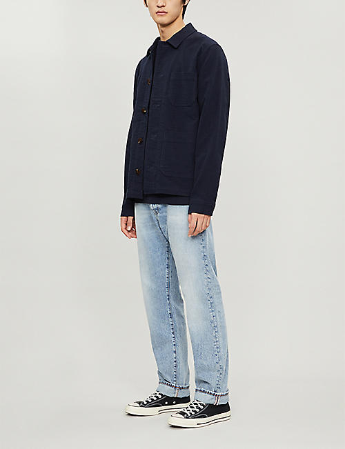 TOMMY HILFIGER Crewneck brand-embroidered cotton-blend jumper