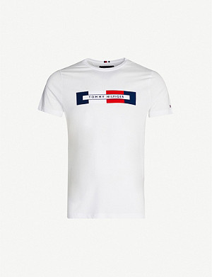TOMMY HILFIGER Branded cotton-jersey T-shirt