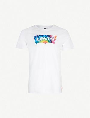 afc38e331 LEVI'S - Levi's X Peanuts Snoopy-print cotton-jersey T-shirt ...