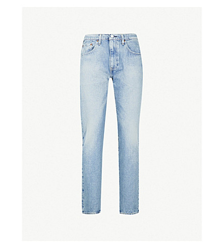 LEVI'S 502 regular-fit stretch-denim jeans (Powder+puff+warp