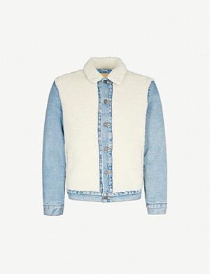 LEVI'S So Sheepy denim and faux-shearling jacket