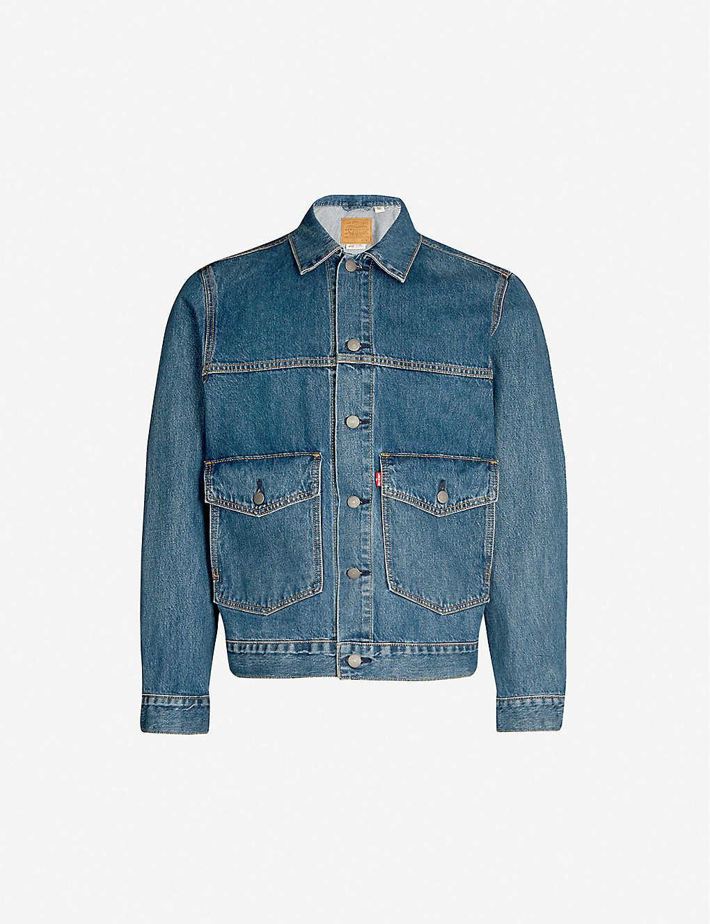 1fcbe799 LEVIS - Patch pocket denim trucker jacket | Selfridges.com