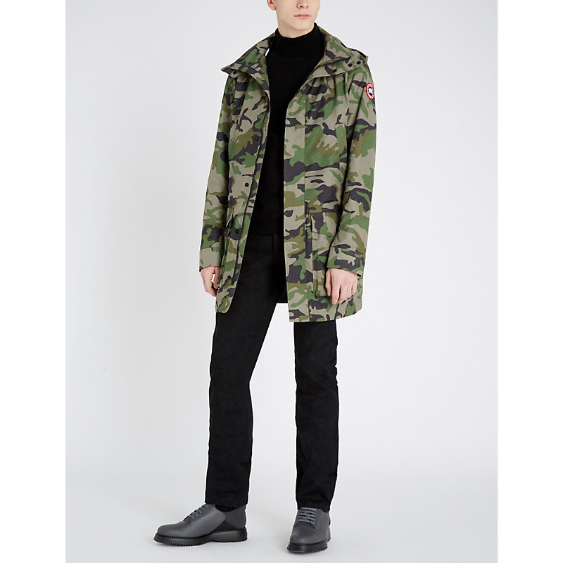 Canada Goose Coats CREW CAMOUFLAGE-PRINT SHELL HOODED COAT