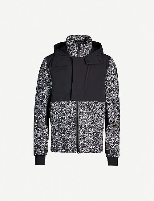 CANADA GOOSE HyBridge reflective-print shell-down hooded jacket