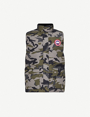 CANADA GOOSE Freestyle Crew camouflage-print shell-down gilet
