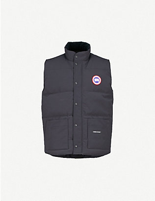 CANADA GOOSE: Freestyle Crew padded shell-down gilet