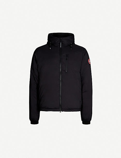 CANADA GOOSE Lodge logo-patch shell-down hooded jacket