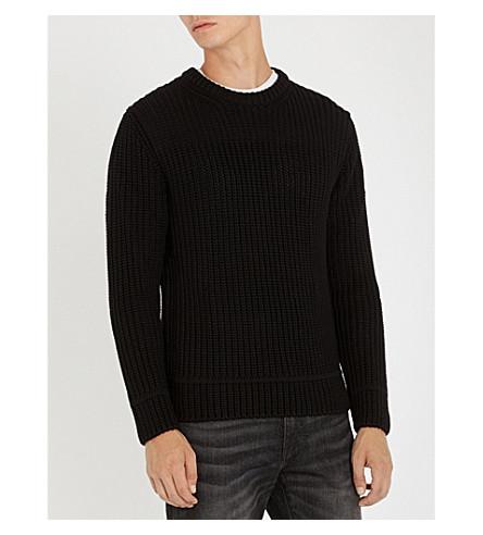 Men'S Rutledge Crewneck Sweater With Pocket in Black