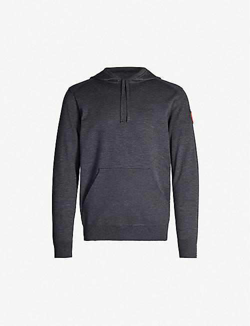CANADA GOOSE Amherst panelled wool-blend hoody