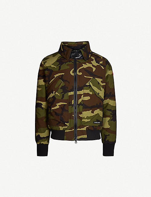 71c5199b26 CANADA GOOSE Bromley camouflage-print shearling and shell-down bomber jacket