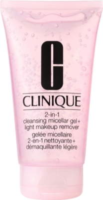 CLINIQUE 2-in-1 Cleansing Micellar Gel + Light Makeup Remover 150ml