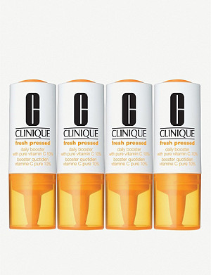 CLINIQUE Fresh Pressed Daily Booster with Pure Vitamin C 10% pack of four 34ml