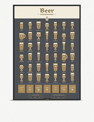LUCKIES OF LONDON Beer Connoisseur scratchable chart