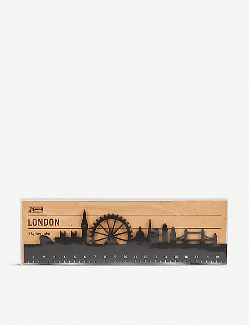 LUCKIES OF LONDON London skyline acrylic ruler 20cm