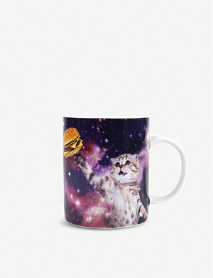 GIFT REPUBLIC Cat In Space ceramic mug