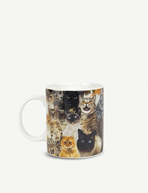 GIFT REPUBLIC Crazy Cat Lady ceramic mug