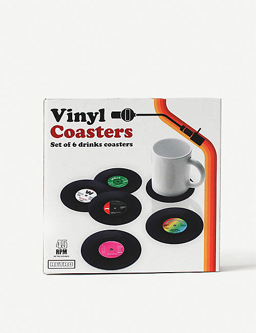 GIFT REPUBLIC Vinyl coasters set of 6