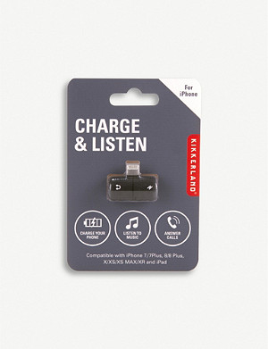 KIKKERLAND Charge & Listen two-in-one port