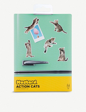 MUSTARD Action Cat Magnets