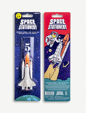 SUCK UK Space shuttle stationery set of five