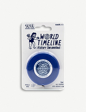 SUCK UK World timeline measuring tape 3m