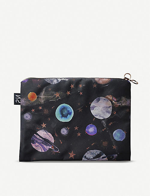 NIKKI STRANGE Marble Galaxy waterproof travel cosmetics bag
