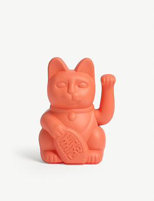 DONKEY PRODUCTS Neon pink lucky cat figurine 15cm x 10cm