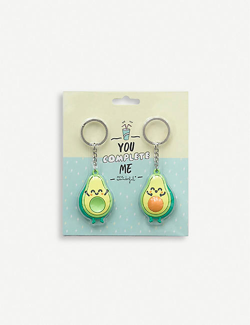 MR WONDERFUL Avocado keyrings set of two